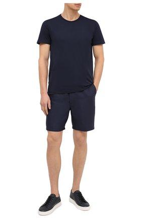 Мужские хлопковая футболка DEREK ROSE синего цвета, арт. 3052-RILE001   Фото 2