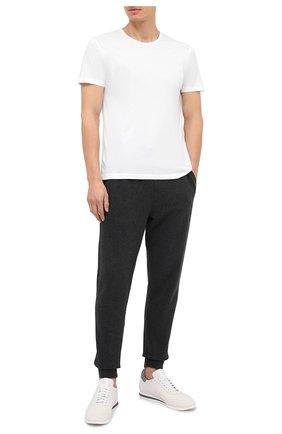 Мужские хлопковая футболка DEREK ROSE белого цвета, арт. 3052-RILE001   Фото 2