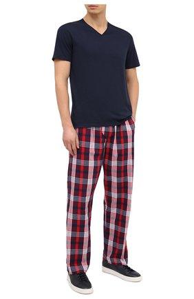 Мужская хлопковая футболка DEREK ROSE синего цвета, арт. 3053-RILE001 | Фото 2