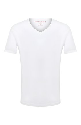 Мужская хлопковая футболка DEREK ROSE белого цвета, арт. 3053-RILE001 | Фото 1