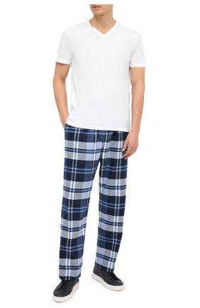 Мужская хлопковая футболка DEREK ROSE белого цвета, арт. 3053-RILE001 | Фото 2