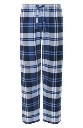 Мужские хлопковые домашние брюки DEREK ROSE темно-синего цвета, арт. 3564-KELB012 | Фото 1