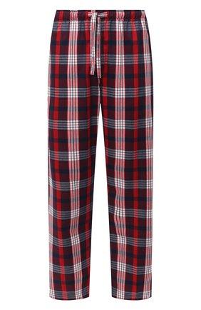 Мужские хлопковые домашние брюки DEREK ROSE красного цвета, арт. 3564-RANG040 | Фото 1