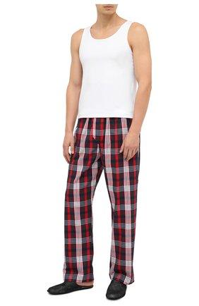 Мужские хлопковые домашние брюки DEREK ROSE красного цвета, арт. 3564-RANG040 | Фото 2
