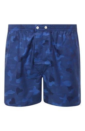 Мужские хлопковые боксеры DEREK ROSE темно-синего цвета, арт. 6000-PARI018   Фото 1