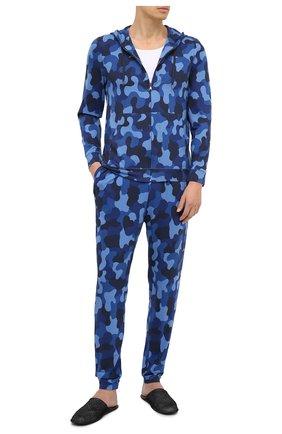 Мужские домашние джоггеры DEREK ROSE синего цвета, арт. 9403-L0ND002 | Фото 2