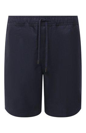 Мужские льняные шорты DEREK ROSE синего цвета, арт. 9810-SYDN002 | Фото 1