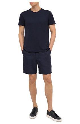 Мужские льняные шорты DEREK ROSE синего цвета, арт. 9810-SYDN002 | Фото 2