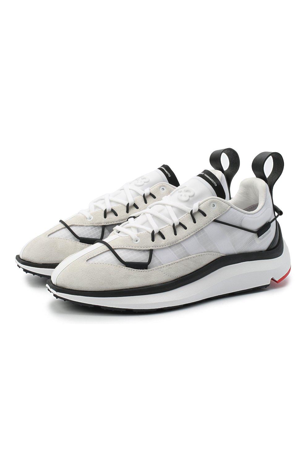 Мужские комбинированные кроссовки shiku run Y-3 белого цвета, арт. FX1415/M   Фото 1