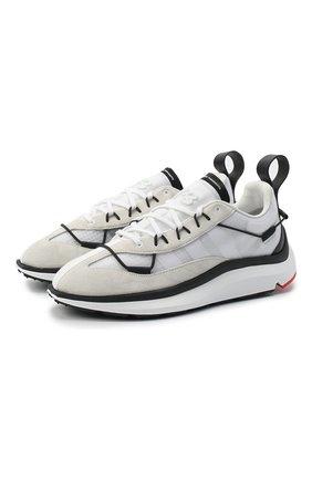Мужские комбинированные кроссовки shiku run Y-3 белого цвета, арт. FX1415/M | Фото 1