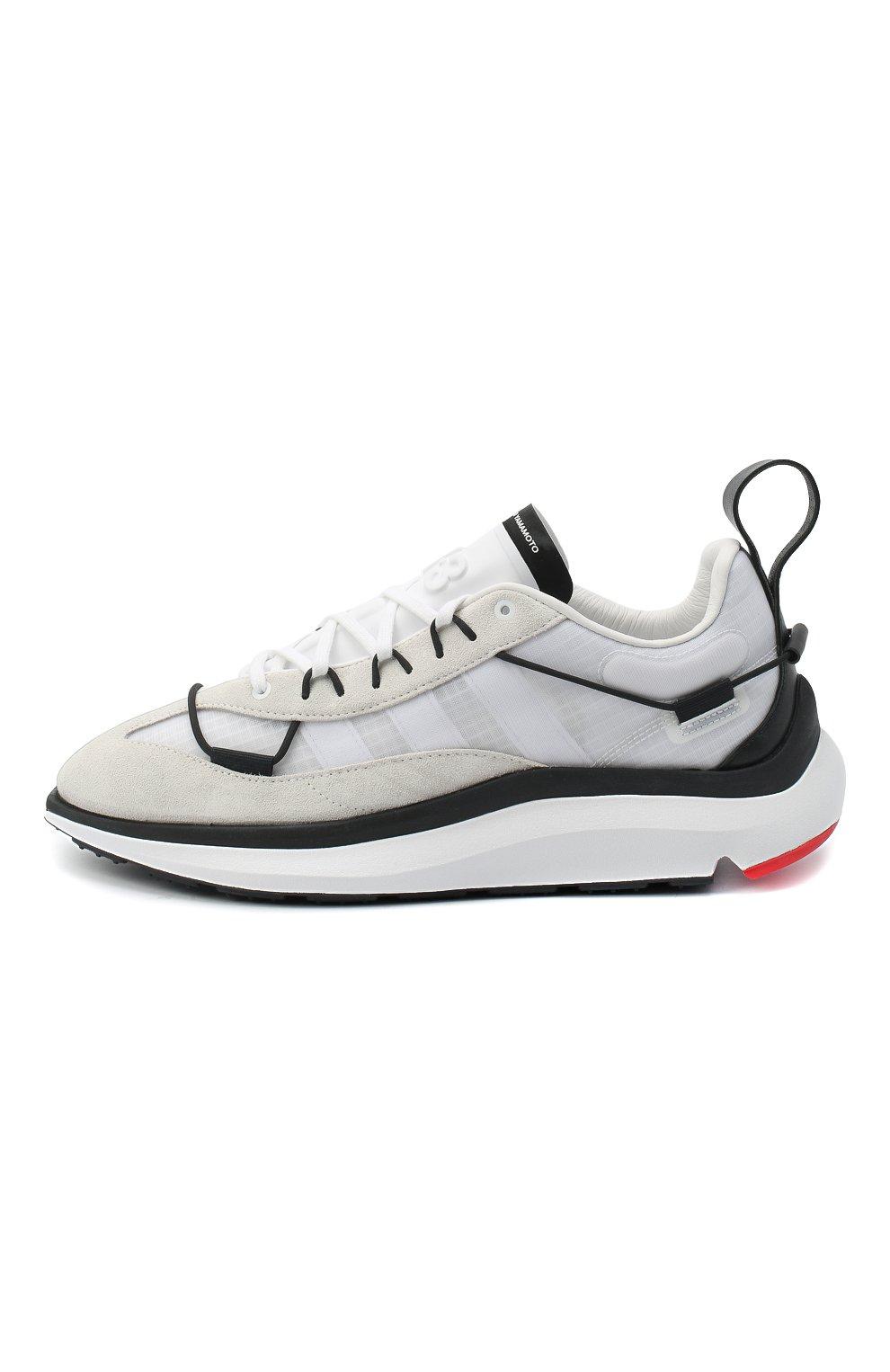 Мужские комбинированные кроссовки shiku run Y-3 белого цвета, арт. FX1415/M   Фото 3
