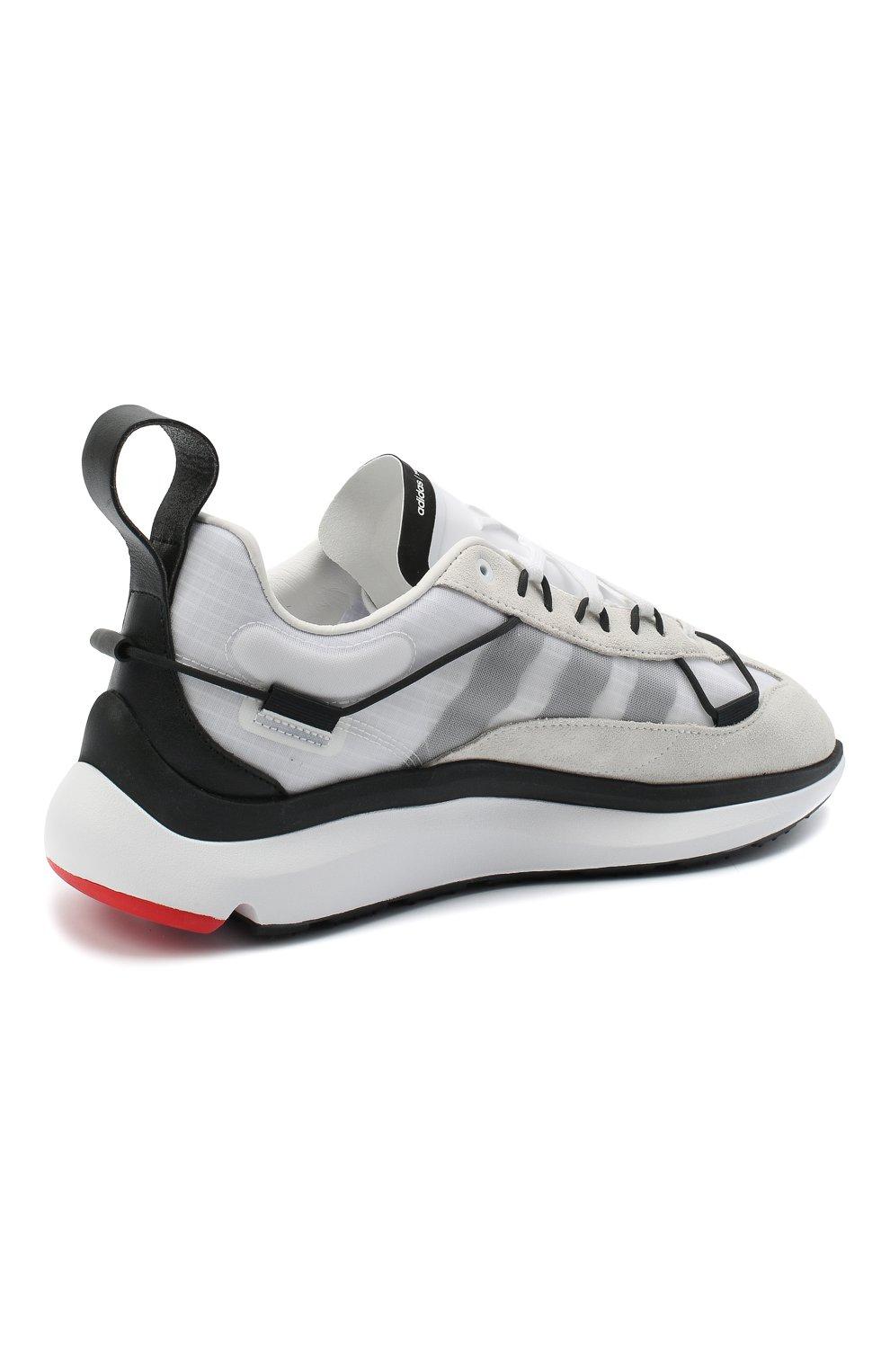 Мужские комбинированные кроссовки shiku run Y-3 белого цвета, арт. FX1415/M   Фото 4