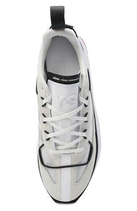 Мужские комбинированные кроссовки shiku run Y-3 белого цвета, арт. FX1415/M   Фото 5