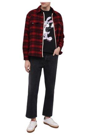 Мужская хлопковая футболка DOM REBEL черного цвета, арт. RABBIT/B0X T-SHIRT | Фото 2