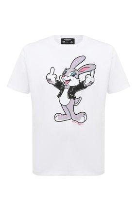 Мужская хлопковая футболка DOM REBEL белого цвета, арт. RABBIT/B0X T-SHIRT | Фото 1