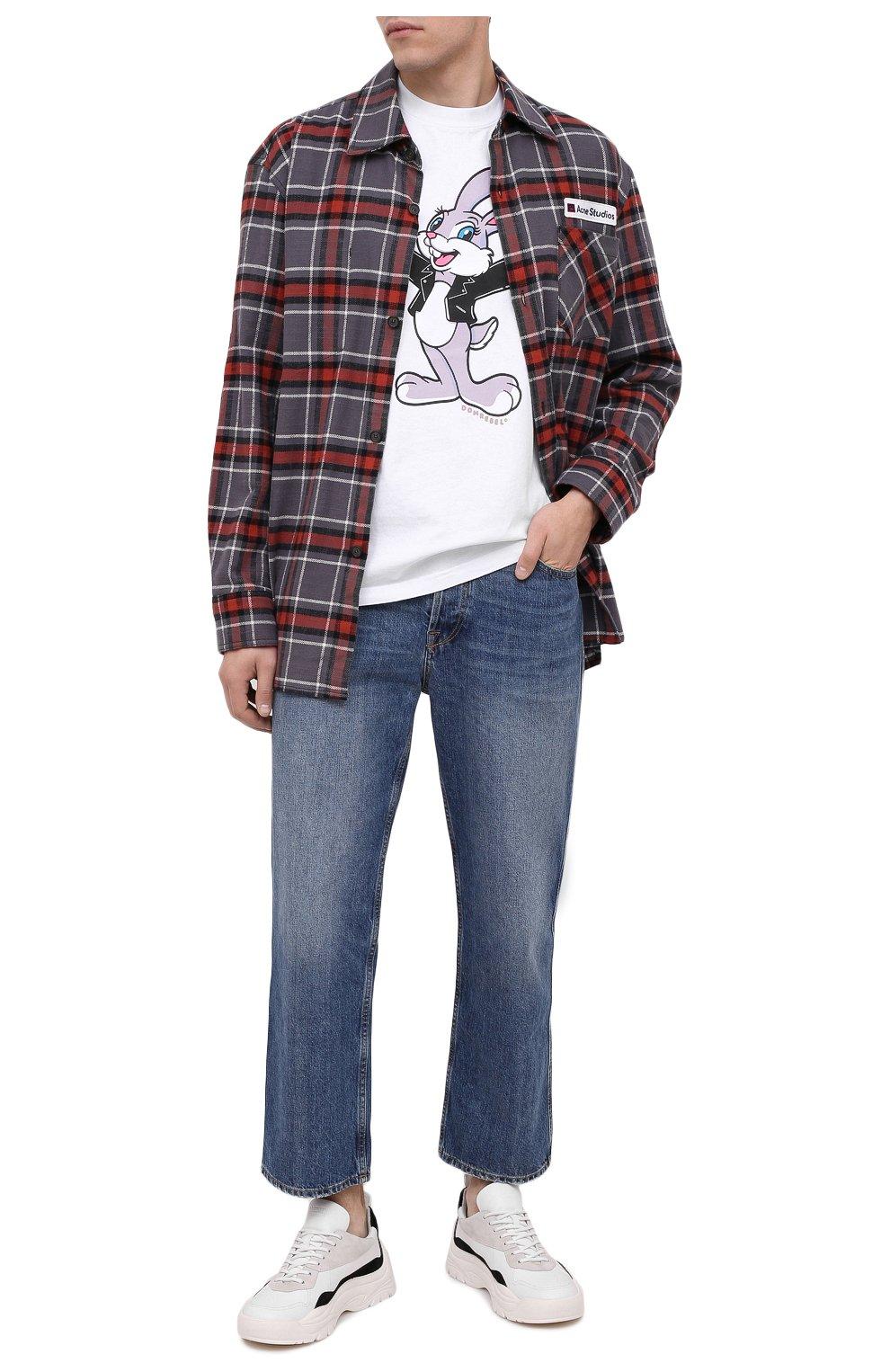 Мужская хлопковая футболка DOM REBEL белого цвета, арт. RABBIT/B0X T-SHIRT   Фото 2