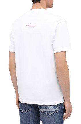 Мужская хлопковая футболка DOM REBEL белого цвета, арт. RABBIT/B0X T-SHIRT   Фото 4