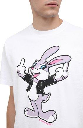 Мужская хлопковая футболка DOM REBEL белого цвета, арт. RABBIT/B0X T-SHIRT   Фото 5