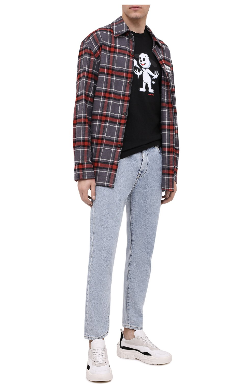Мужская хлопковая футболка DOM REBEL черного цвета, арт. HEARTBEAT/T-SHIRT | Фото 2