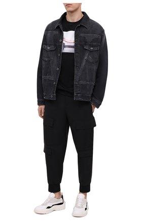 Мужская хлопковая футболка LIMITATO черного цвета, арт. LAY 0VER/T-SHIRT | Фото 2