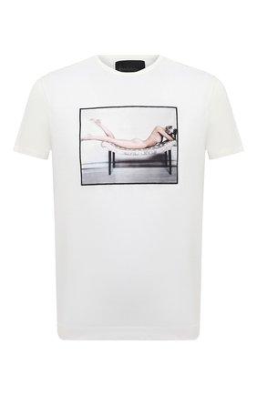 Мужская хлопковая футболка LIMITATO белого цвета, арт. LAY 0VER/T-SHIRT | Фото 1