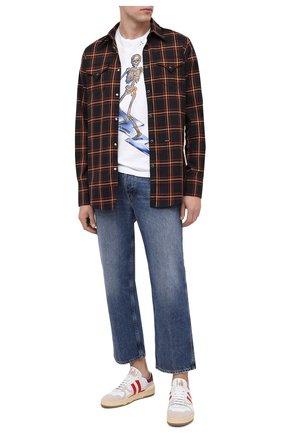 Мужская хлопковая футболка DOM REBEL белого цвета, арт. SKELESURF/T-SHIRT/H0LES | Фото 2