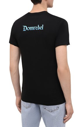 Мужская хлопковая футболка DOM REBEL черного цвета, арт. TEARS/T-SHIRT | Фото 4