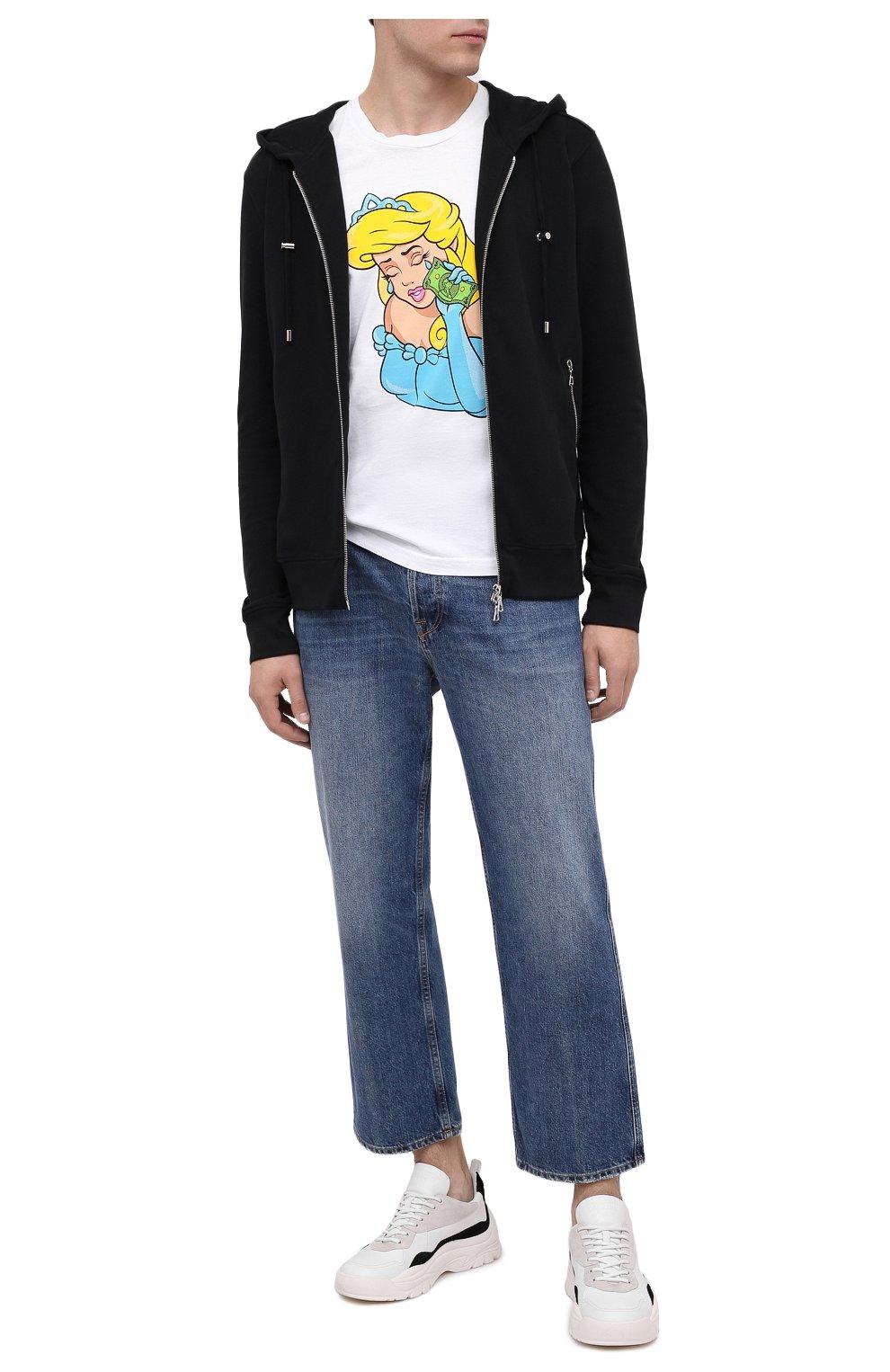 Мужская хлопковая футболка DOM REBEL белого цвета, арт. TEARS/T-SHIRT | Фото 2