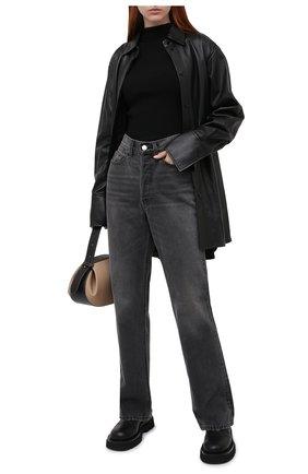 Женская кожаная рубашка JOSEPH черного цвета, арт. JF004954 | Фото 2