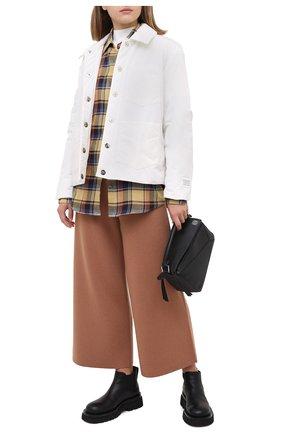 Женские шерстяные брюки JOSEPH коричневого цвета, арт. JF004792 | Фото 2