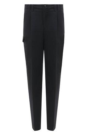 Мужские хлопковые брюки GIORGIO ARMANI темно-серого цвета, арт. 0WGPP0DW/T01VN | Фото 1