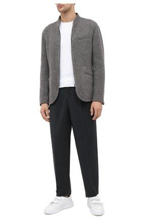 Мужские хлопковые брюки GIORGIO ARMANI темно-серого цвета, арт. 0WGPP0DW/T01VN | Фото 2