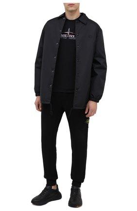 Мужская хлопковая футболка STONE ISLAND черного цвета, арт. 73152NS83   Фото 2