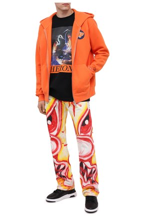 Мужская хлопковая футболка HERON PRESTON черного цвета, арт. HMAA020F20JER0021020 | Фото 2