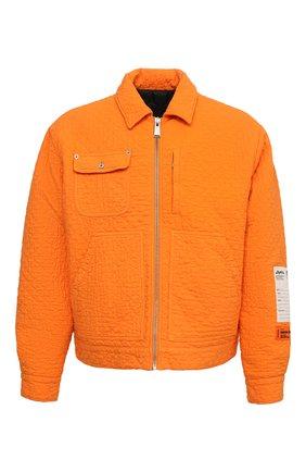 Мужская хлопковая куртка HERON PRESTON оранжевого цвета, арт. HMEA052F20FAB0012200 | Фото 1