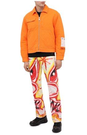Мужская хлопковая куртка HERON PRESTON оранжевого цвета, арт. HMEA052F20FAB0012200 | Фото 3 (Кросс-КТ: Куртка, Ветровка; Рукава: Длинные; Материал внешний: Хлопок; Мужское Кросс-КТ: Куртка-верхняя одежда, Верхняя одежда; Материал подклада: Синтетический материал; Длина (верхняя одежда): Короткие)