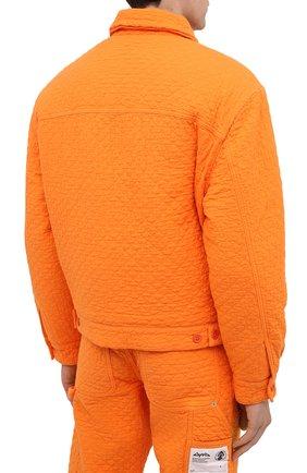 Мужская хлопковая куртка HERON PRESTON оранжевого цвета, арт. HMEA052F20FAB0012200 | Фото 5 (Кросс-КТ: Куртка, Ветровка; Рукава: Длинные; Материал внешний: Хлопок; Мужское Кросс-КТ: Куртка-верхняя одежда, Верхняя одежда; Материал подклада: Синтетический материал; Длина (верхняя одежда): Короткие)