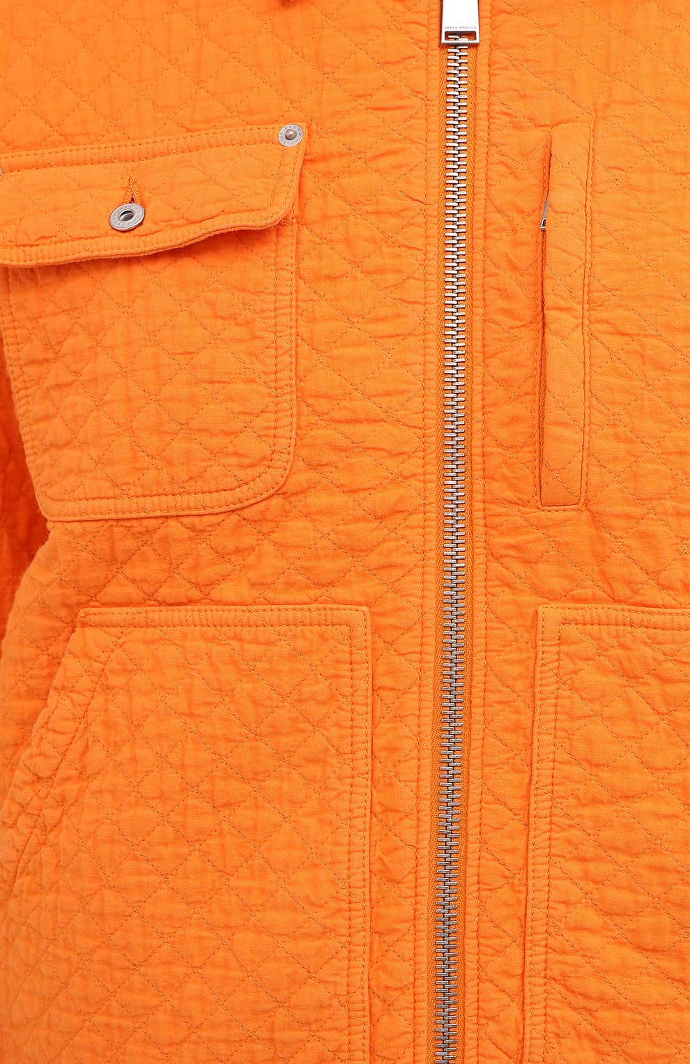 Мужская хлопковая куртка HERON PRESTON оранжевого цвета, арт. HMEA052F20FAB0012200 | Фото 6 (Кросс-КТ: Куртка, Ветровка; Рукава: Длинные; Материал внешний: Хлопок; Мужское Кросс-КТ: Куртка-верхняя одежда, Верхняя одежда; Материал подклада: Синтетический материал; Длина (верхняя одежда): Короткие)