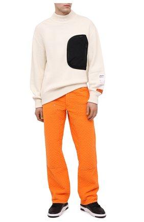 Мужской свитер HERON PRESTON белого цвета, арт. HMHF002F20KNI0010400 | Фото 2