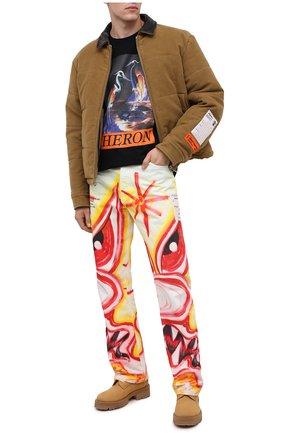 Мужские джинсы heron preston x kenny scharf HERON PRESTON разноцветного цвета, арт. HMYA011F20DEN0040130 | Фото 2
