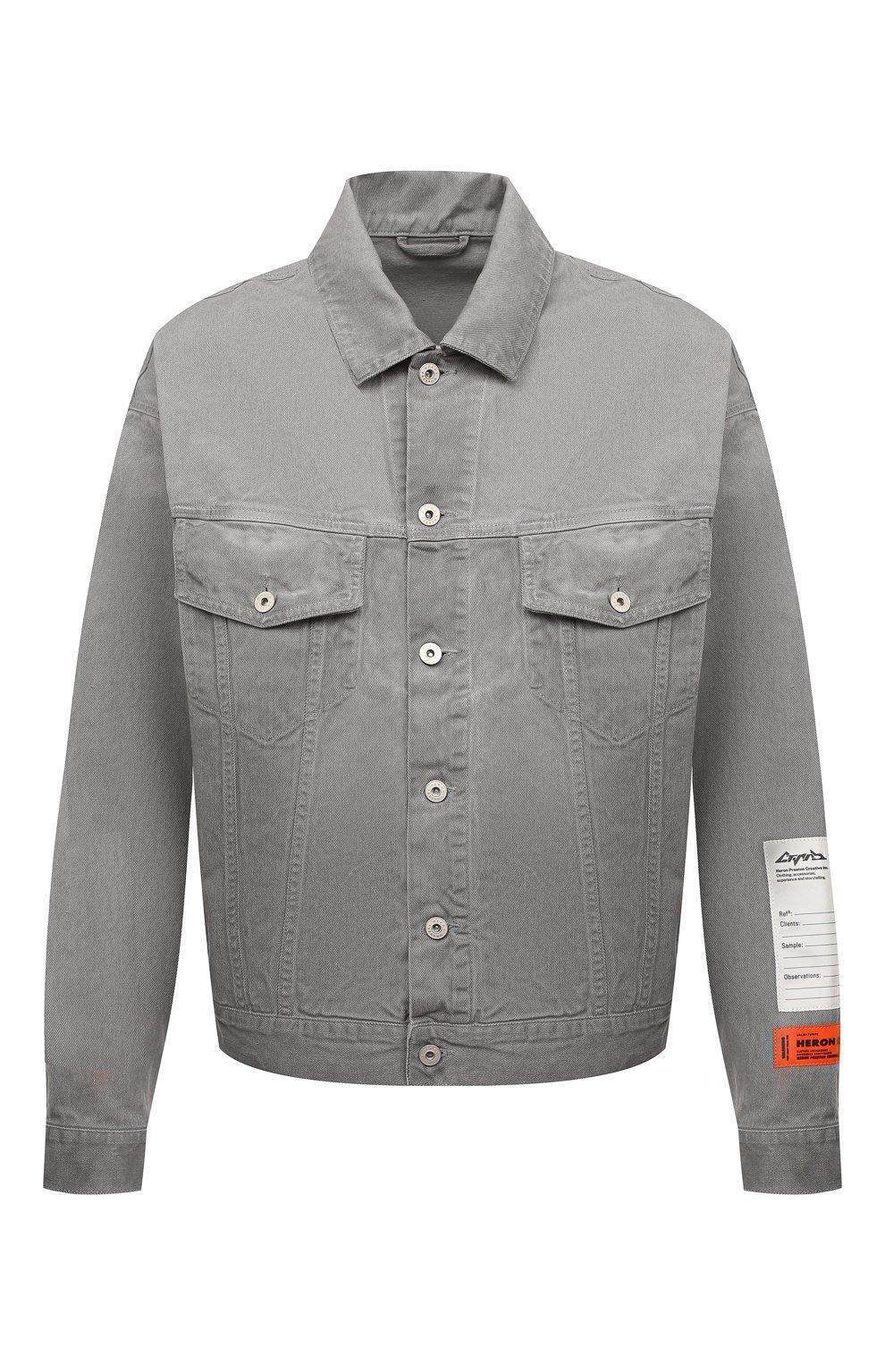 Мужская джинсовая куртка HERON PRESTON серого цвета, арт. HMYE005F20DEN0016000 | Фото 1