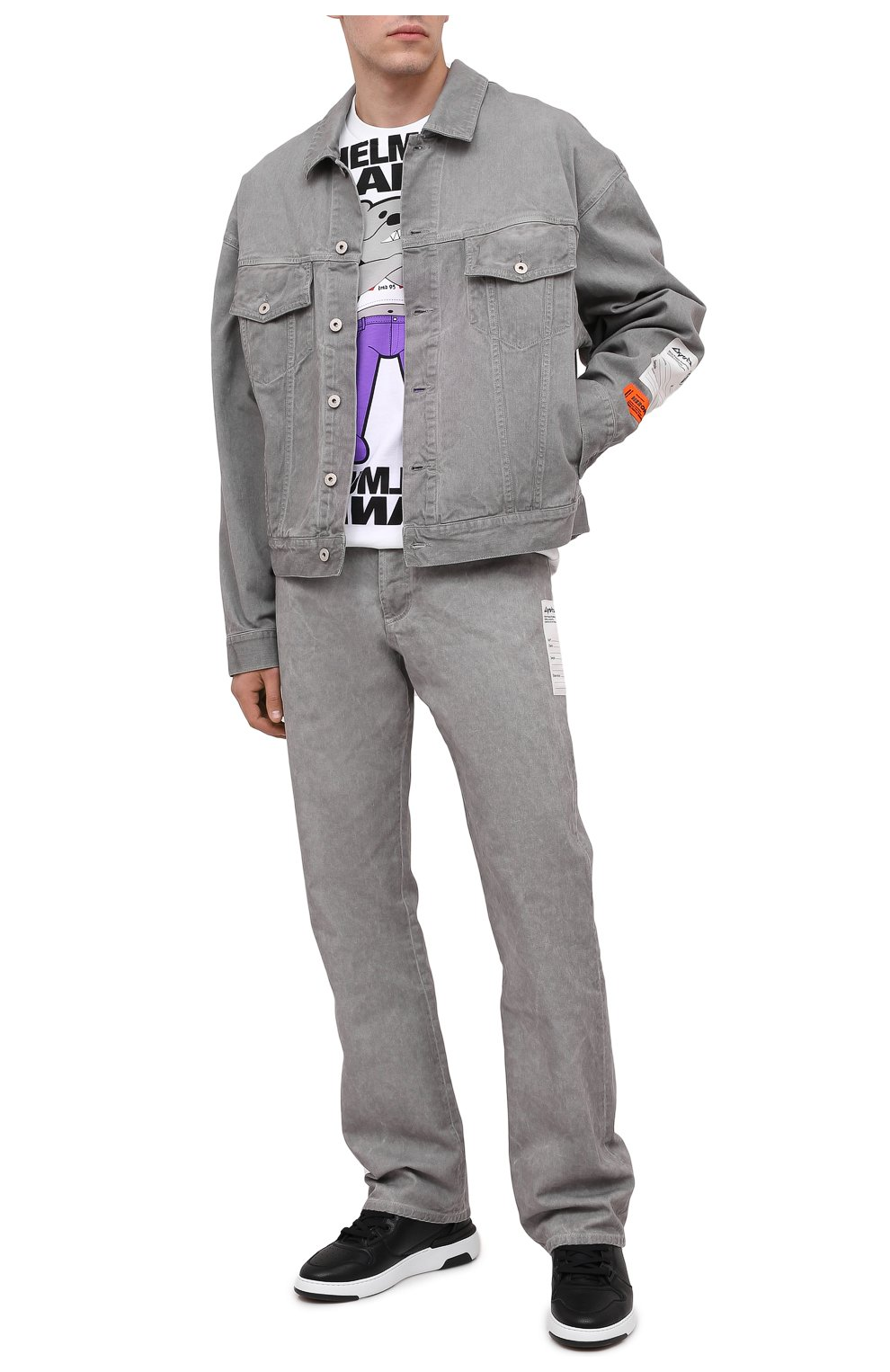 Мужская джинсовая куртка HERON PRESTON серого цвета, арт. HMYE005F20DEN0016000 | Фото 2