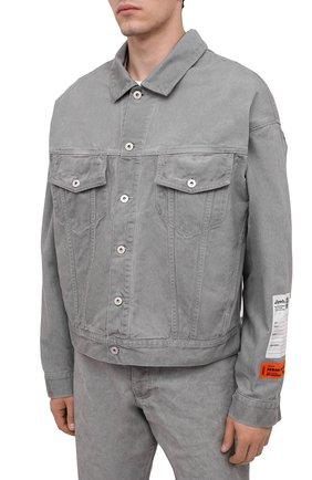 Мужская джинсовая куртка HERON PRESTON серого цвета, арт. HMYE005F20DEN0016000 | Фото 3
