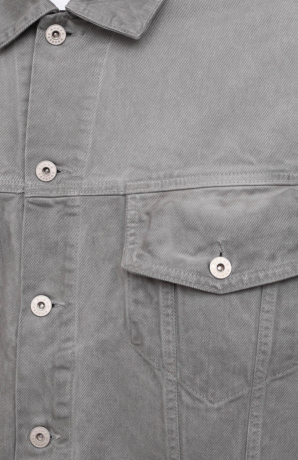 Мужская джинсовая куртка HERON PRESTON серого цвета, арт. HMYE005F20DEN0016000 | Фото 5