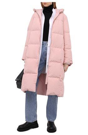 Женский пуховик JIL SANDER розового цвета, арт. JPPR441594-WR440900 | Фото 2