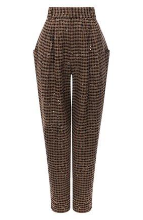 Женские брюки ALESSANDRA RICH коричневого цвета, арт. FAB2228-F2949 | Фото 1