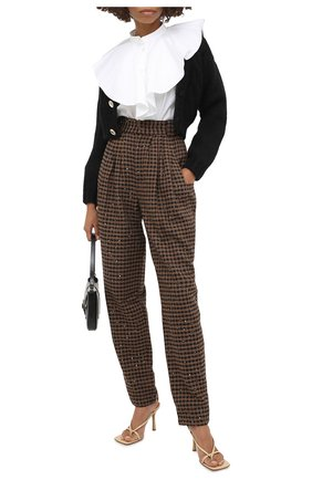 Женские брюки ALESSANDRA RICH коричневого цвета, арт. FAB2228-F2949 | Фото 2