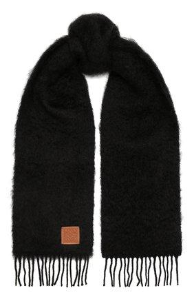 Мужской шарф LOEWE черного цвета, арт. F655254X01 | Фото 1