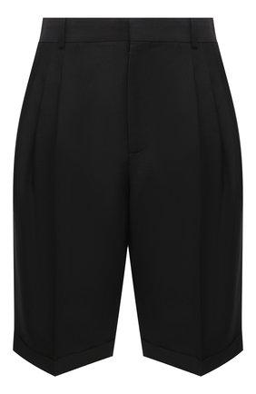 Мужские шерстяные шорты LOEWE черного цвета, арт. H526331X40 | Фото 1