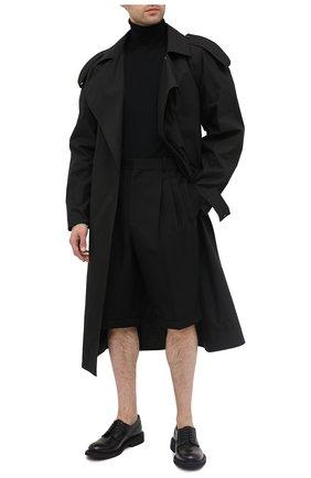 Мужские шерстяные шорты LOEWE черного цвета, арт. H526331X40 | Фото 2